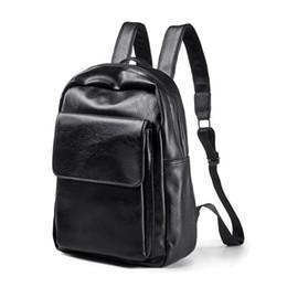 0bbb8dd793f24 Leather Backpack Men Laptop School Backpacks Bag Man Waterproof Casual  Travel Backpack For Teenagers Computer Bags College Pack
