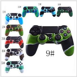 Wholesale Xbox One Skins - For PS4 Soft Silicone Flexible Camouflage Rubber Skin Case Cover For Xbox One Slim Controller Grip Cover