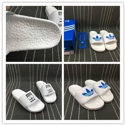 Wholesale ad flat - 2018 AD NH ADILETTE BOOST Slide Sandal Fashion Brand neighborhood Loafers Scuffs Slippers Summer Beach Sandal Outdoor Slippers Free Ship