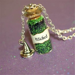 Wholesale wizard hat wholesale - 12pcs lot WICKED Necklace with a Witch's Hat Charm, Once Upon a Time, Wicked Zelena, Wizard of Oz necklace