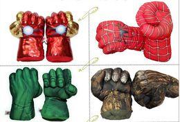 Argentina 2018 Hot Child Spider Boxing Gloves Green Plush Toy Gloves Fist Fist Child Gift Envío gratis Suministro