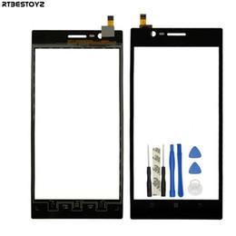 Reemplazo del digitalizador lenovo online-Pantalla táctil RTBESTOYZ para Lenovo K900 Digitalizador de pantalla táctil Partes de repuesto del sensor de vidrio delantero para Lenovo K900 Panel táctil