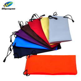 Wholesale leather eyeglass pouches - waterproof leather plastic sunglasses pouch soft eyeglasses bag glasses case many colors mixed 18*9CM