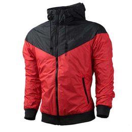 Wholesale red overcoat men - Brand Men Designer Jacket Coat Luxury Zipper Long Sleeve Autumn Sportswear Coat Windcheater Outerwear Overcoat 2018 Best Quality