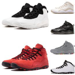 buy popular d26ef 1582f Nouvelle chaussure de designer Westbrook 10 10s Cement chaussures de basketball  homme blanc noir Cool Steel Grey Chicago bleu poudre nouvelles chaussures  de ...