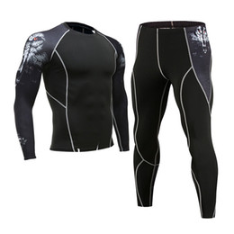 Мужские подростковые футболки онлайн-2018  men tracksuit rashgard kit 3D printed teen wolf long-sleeved T-shirt tights Men's leggings MMA compression pants
