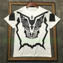 chemise imprimée au loup Promotion 2018 été vêtements hommes marcelo burlon 3D loup imprimer t-shirt kanye ouest designer t-shirts tee tshirt tops