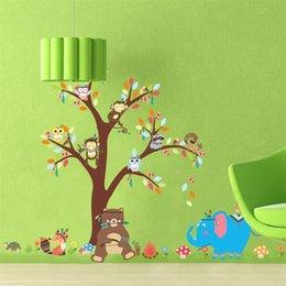 macaco decoração miúdo Desconto Jardim de Infância Adesivos de Parede Macaco Árvore Crianças Quarto À Prova D 'Água Removível Papel De Parede Home Decor Mural Decoração Arte 6 5zy Ww