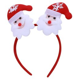 animal fancy dress accessories Promo Codes - Christmas Headbands Santa Claus Head Hoop Colorful Head Buckles Adult Home Party Decoration Children Cosplay Fancy Dress Hair Accessories