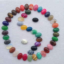 Wholesale Multi Stone Pendants - Natural Stripe Agate Jade Jewelry Pendant Ellipse Semi Precious Stone Arts And Crafts Multi Color New Arrive 1 5wu C R