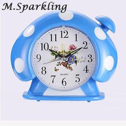 caramella di sveglia Sconti M.Sparkling Studio Bedroom Small Mushroom Alarm Clock Candy Color Fungo Style Fashion Alarm Clock Studente Bambini
