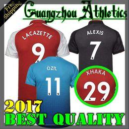 Wholesale 17 Shirts - 2017 new Gunners OZIL soccer jersey 17 18 ALEXIS WILSHERE GIROUD LACAZETTE CHAMBERS XHAKA home away 3rd football shirt free shipping S-4XL