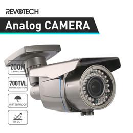 cámara effio Rebajas Cámara de CCTV de vigilancia 700TVL impermeable para exteriores Sony Effio-E CCD / CMOS 2.8-12mm Zoom Cámara de seguridad Video Cámara analógica