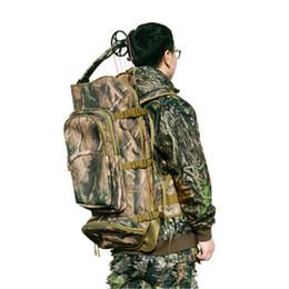 Mochilas de camuflaje para la caza. online-Alta cantidad de apertura superior bolsa de viaje compuesto universal 600D mochila de nylon de camuflaje de impresión para tiro con arco tiro con arco
