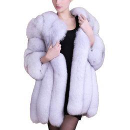 Wholesale Short Orange Fur Jacket - 2017 Winter warm coat women outwear Faux Fur jacket long style 7 color plus size M-XXXXL Shipping From USA