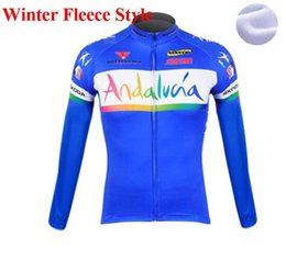 Wholesale Winter Bike Clothing - 2018 andalucia Winter thermal fleece cycling jersey long ropa ciclismo mtb bike clothes cycling clothing popular style
