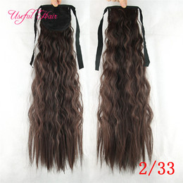 Wholesale Pony Wave - CHEAP Drawstring Ponytails Valentines day Pony Tail Hairpieces comb ponytail blonde hair extension clip in hair extensions for female,girl