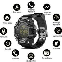 pantalla táctil redonda reloj deportivo Rebajas SOVO SG10 Bluetooth Reloj Reloj inteligente EX16 Notificación de control remoto podómetro reloj del deporte IP67 impermeable de los hombres de la pulsera