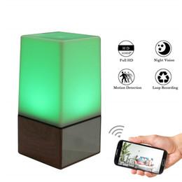 câmera de visualização ao vivo Desconto LED Night Light WiFi Câmera HD 1080p sem fio Nanny Cam com detecção de movimento Night Vision Mini Filmadora com Live View iPhone Android