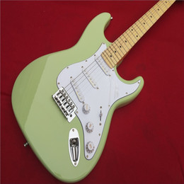 electric guitar show Promo Codes - Electric guitar Wholesale KPOLE st custom shop electric guitar oem brand sky blue color guitar guitar in chin Real photo shows
