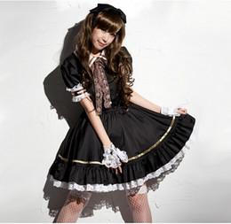 disfraces de carnaval blanco nieve Rebajas Historia de Shanghai Vestido de sirvienta dulce Cosplay Disfraz de sirvienta linda Lolita Vestido de traje Conjunto de servicio de traje Negro