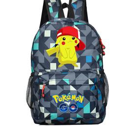 Zaini pikachu online-HOT-vendita Anime Go Game Zaino in tela Pikachu uomo donna spalla viaggio s Ragazze adolescenti zainetto zaino