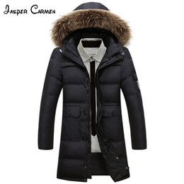 Wholesale New Age Clothing - Free Shipping 2017 Men's Winter New Fashion Long Down Wear Thick Cotton Padded Jacket Middle-age And Young Warm Clothe CXY200