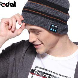 Wholesale Black Magic Speakers - 20-20KHZ Fashion USB Smart Bluetooth 4.1 Wireless Music Cap Headphone Headset Speaker Magic 3.7V Hat