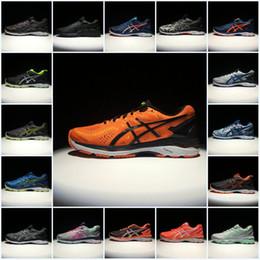Wholesale Fall Tops - 2018 Asics Originals Mens Gel-Kayano 23 T646N Top Running Shoes Orange Gray Green Blue Black Basketball Shoes Sport Sneakers