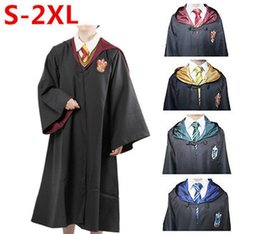 Wholesale Anime Tie - New Adult Children Harry Potter Cosplay Robe Cloak Gryffindor Slytherin Hufflepuff Costumes Robe&Tie