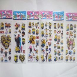 100 feuilles / lot 3D Carton bulle autocollant de Despicable Me2 autocollants gonflés pour l'anniversaire de l'enfant présente KId Classic Toys Sticker ? partir de fabricateur