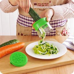 2019 le mani di plastica Verdal Spiralizer Hand held Spiral Grattugie Carrot Slicer Manico in plastica Cucina Strumento di cottura Conveniente Preiswert T1I751 le mani di plastica economici
