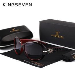 elegante polarisierte sonnenbrille Rabatt KINGSEVEN Marke Design Sonnenbrille Frauen Polarisierte Elegante Damen Sonnenbrille Weibliche Brillen Sommer Oculos De Sol Shades 7214