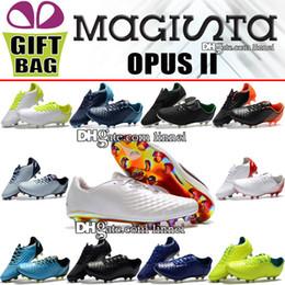 botas planas de moda del tobillo de las mujeres Rebajas Hombres originales Magista Opus II FG zapatos de fútbol botas de fútbol de cuero bajo Magista Obra zapatos de fútbol zapatos de fútbol de suelo firme al aire libre ACC