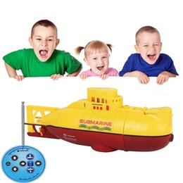 Wholesale Toy Submarines Rc - RC Submarine 6 Channels High Speed Radio Remote Control Electric Mini Radio Control Submarine Children Toy Boys Model Toys Gifts