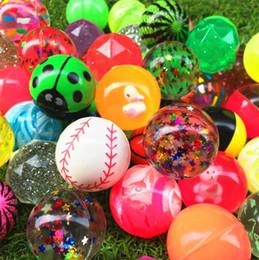 2019 brinquedos que saltam bolas 45mm Mixing Elastic ball Bola de borracha quicando brinquedo Pet para crianças Melancia magia globo ocular Descompressão Brinquedo T4H0504 brinquedos que saltam bolas barato