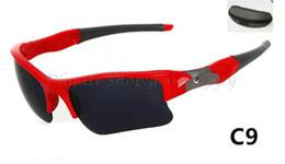 Hot Style populaire cadre rouge   gris lentille lunettes de soleil de sport  de nouveaux hommes hommes Lunettes de soleil Livraison gratuite avec étui.  ... d2f751effd79