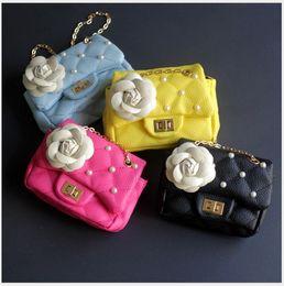 Porte-monnaie en Ligne-Mode de détail bébé filles princesse fleur sacs de mode chaîne de perles pour une épaule sac enfants sacs à dos fille porte-monnaie