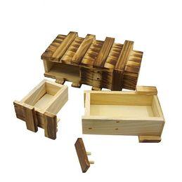 2019 cajon de juguete Tamaño grande de madera de la vendimia juega la caja del rompecabezas con el cajón secreto del compartimiento mágico Rompecabezas juguetes de madera rompecabezas cajas de juguete YH1309 rebajas cajon de juguete