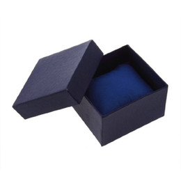 Wholesale Paper Presents - Dark Blue Present Gift Boxes Case Storage Holder For Bangle Wrist Watch box