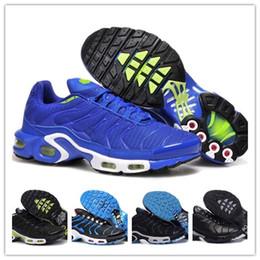 Wholesale pvc net - 2018 discount brand PLUS sports running shoes new TN men's black white red men's breathable running shoes men's trainer running net air shoe