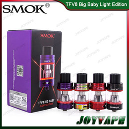 Wholesale led tank lighting - Authentic SMOK TFV8 Big Baby Light Edition Tank 5ML TFV8 Big Baby Atomizer Updated With Changeable LED Light At the Base 100% Orginal