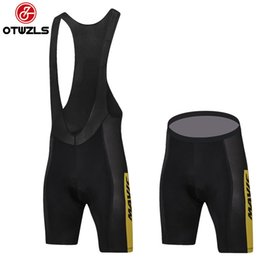 Wholesale Mens Gel Padded Cycling Shorts - MAVIC 2018 Mens Cycling Bib Shorts Summer Cycling Clothing Pro Team Coolmax 20D Gel Pad Bike Bib Shorts MTB Ropa Ciclismo Bicycle Pants