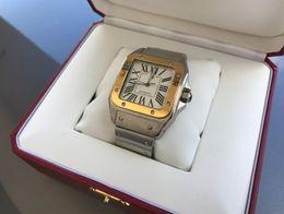 Argentina Lujo AAA de calidad superior 100 XL 42 mm Auto Men 18kt oro amarillo acero reloj automático W200728G reloj de los hombres caja original / papeles cheap xl watches men Suministro