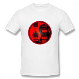 Popolare Chitarre Acustiche Rosso E Nero Yin Yang Tee Per Unisex Divertente Streetwear Per Boy O - Neck T Shirt cheap yin yang red da yin yang rosso fornitori