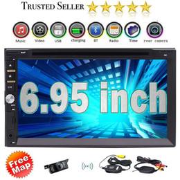 "Wholesale bt car audio - Car Deck Audio Headunit&Wireless Rearview Camera 6.95"" 2Din in Dash Car DVD Player DVD CD MP3 MP4 USB SD Radio BT Stereo"