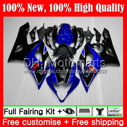 kits corpo k5 Desconto Carroçaria Para SUZUKI Preto Azul GSX-R1000 GSXR-1000 K5 GSXR 1000 05 06 30MT3 GSX R1000 05 06 Corpo GSXR1000 2005 2006 Kit de Carroçaria para Carenagem