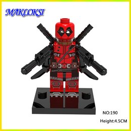 Wholesale deadpool marvel heroes - Deadpool 30pcs lot Marvel Super Heroes Series Building Blocks Sets Model toys The Avengers alliance figures toys