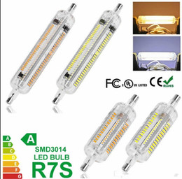 2019 halogênio, inundação, luz, lâmpadas Levou R7S lâmpada 6 W 78mm 12 W 118mm SMD3014 lâmpada de inundação de halogéneo substituição R7s AC100-240V 108 Leds 228Leds silicone 360 graus R7S luzes halogênio, inundação, luz, lâmpadas barato