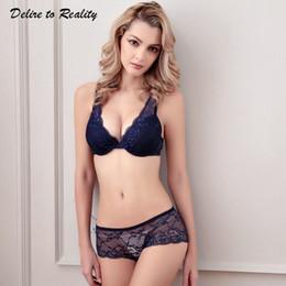 Bra atractivo de las mujeres bra breve conjunto Push Up Bralette ropa  interior de encaje para mujer lencería 3 4 copa bragas sujetador rojo negro  blanco ... 9819d63766b8